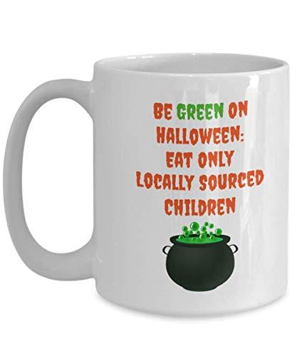 Halloween Mug Children Cauldron Green Funny Coffee Gift Idea For Novelty Joke Gag ()
