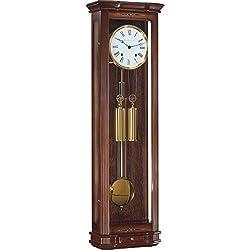 Hermle Clapham Mechanical Regulator Wall Clock - Walnut - 1/2 Hour Strike