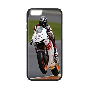 Back Skin Case Shell iPhone 6s Plus 5.5 Inch Cell Phone Case Black Marc Marquez Ukohu Pattern Hard Case Cover