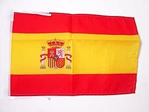 AZ FLAG Bandera de ESPAÑA 45x30cm - BANDERINA ESPAÑOLA 30 x 45 cm cordeles: Amazon.es: Hogar