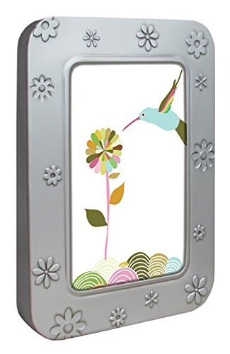 Tree-Free Greetings Noteables Notecards In Reusable Embossed Tin, 12 Card Assortment, Recycled, 4 x 6 Inches, Hummingbird Play, Multi Color (76106)