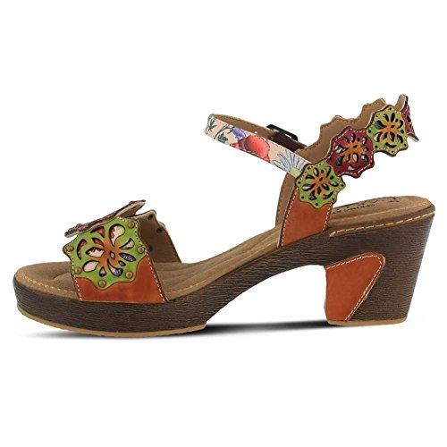 Lartiste By Spring Step Da Donna Stile Pinkie In Pelle Sandalo Cammello