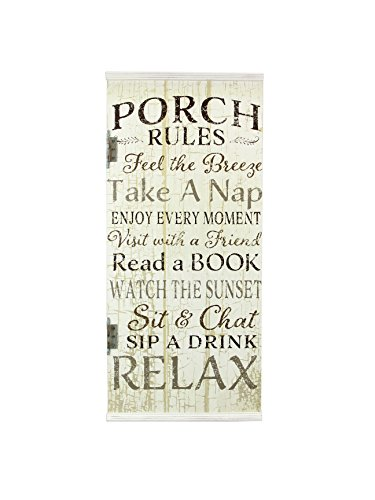Young's Wood Front Porch Rule Sign, 31