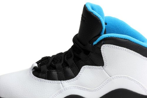 Nike Jordan 10 Retro (ps) Basketball Kinderschuhe Grö�e White/Dk Powder Blue-Black