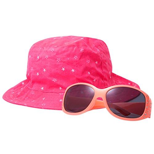 EYEGUARD Crystal Design UV400 Kids Sunglasses and Beach Sun Hats Combo Children(5-12 years - Sunglasses Year Old 5