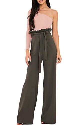 Moda Pantaloni Alta Donna Pantaloni Festivo Larghi Colori Pantalone Cintura Verde Giovane Vita Elegante Larghi Lunga Solidi Ragazze Pantaloni Inclusa Donne Bv4Xnw