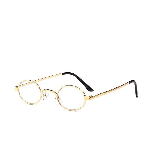 Yangjing-hl Gafas de Sol con Montura Redonda pequeña Gafas de Sol ...