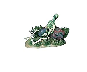 Pen-Plax 085 Action Air Pirate Skeleton with Jug & Treasure Chest Live-Action Aerating Aquarium Ornament