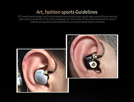 893e4ae87c5 Amazon.com  KZ ATE Hi-Fi IEM Sports Headphones with Copper Driver Ear Hook  and Foam Eartips Specially for Music Fans