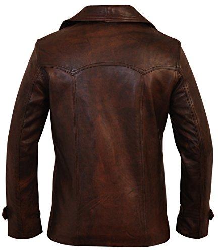 Piel Diseño En Hombre Marrón De Charlie Chaqueta Para London Vintage Color fAS55q