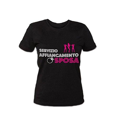 Maglietta Nero Addii Marca Personalizzata Sposa al per Donna Altra Shirt Nubilato Affiancamento q7wPBtBF