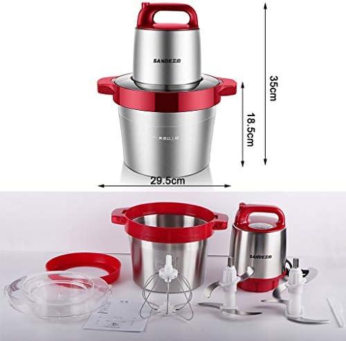 Shix xiang shop Processeur Alimentaire électrique en Acier Inoxydable, 6L Choppers Alimentaires avec 4 Lames Sharp et 2 Fast & Slow Vitesses for émincer, hacher, moudre