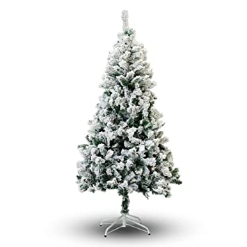 Amazon.com: Perfect Holiday Christmas Tree, 7', Flocked Snow: Home ...