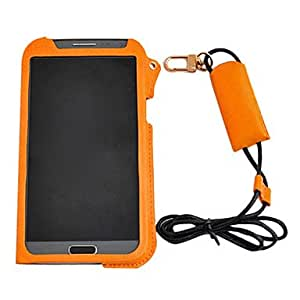 Hang Rope Solid Color Leather Punch for Samsung Galaxy Note 2 N7100(Assorted Color) --- COLOR:White
