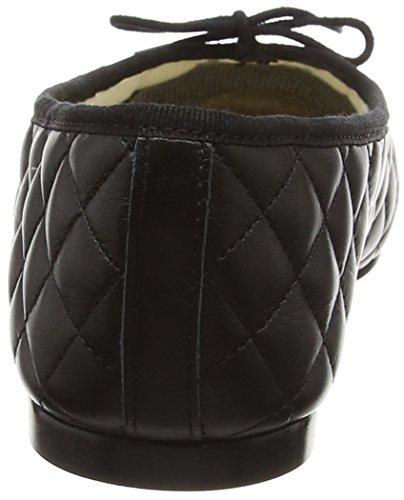 French Sole Simple Quilt-Patent Toe, Ballerine Donna Nero (Black (Nero))