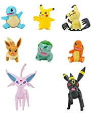 PoKéMoN Battle Figure 8-Pack - Features Charmander, Bulbasaur, Squirtle, Mimikyu, Pikachu, Eevee, Umbreon, Espeon - Perfect for Any Trainer (PKW0184)