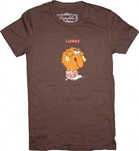 rainbow-brite-lurky-brown-tee-t-shirt-small