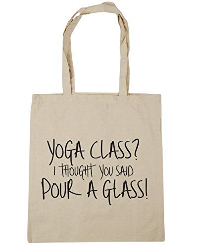 10 a Yoga HippoWarehouse I x38cm Gym Beach litres Bag Shopping Glass Class Pour Tote You Natural 42cm Said Thought axS0wdq