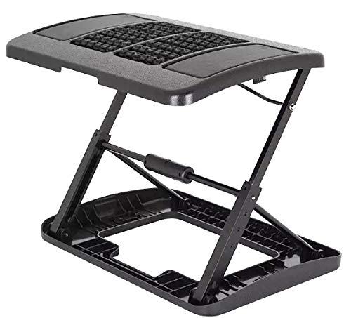 Adjustable Footrest for Home Office, Or Under Desk Ergonomic Massaging Foot Rest (Footstool) (Massaging & Height Adjustable)