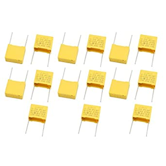 25 Pcs X2-334 Safety Polyester Film Capacitor 310VAC 0.33uF Yellow