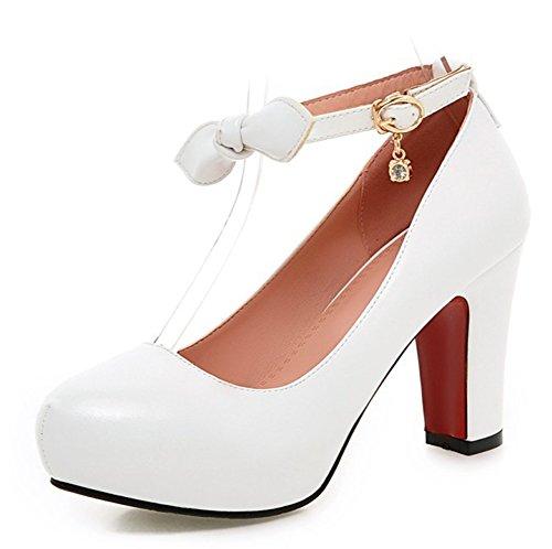 Aisun Mariage Escarpins Chaussures Chic Noeud De Style Blanc Femme FwqrXzF