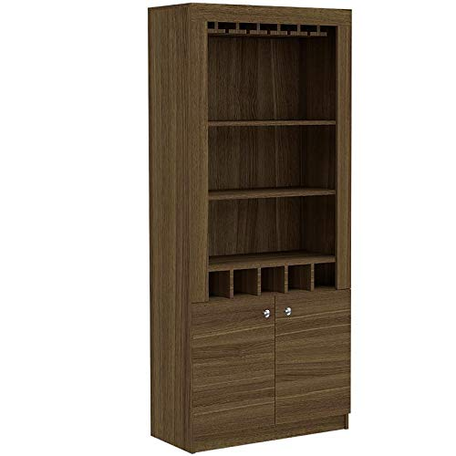 Tuhome Furniture Montenegro Bar Cabinet in Weathered Oak by Tuhome Furniture