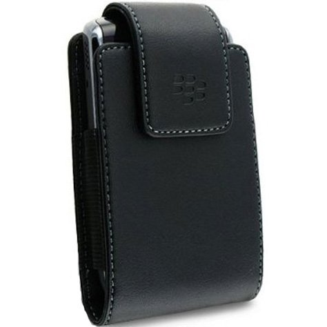 OEM Leather Holster Pouch Case w/ Swivel Belt Clip for Blackberry Curve / Bold / Tour
