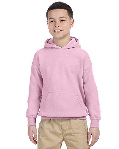 Gildan Heavy Blend Youth Hooded Sweatshirt, Light Pink , Large ()