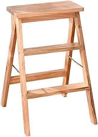 SED Escaleras de Mano Multiusos para el Hogar, Taburetes Interiores para Taburete Plegable de Madera Taburete Portátil Taburete Al Step Silla Plegable Cocina Banco Alto Escalera Antideslizante Tabure: Amazon.es: Bricolaje y herramientas