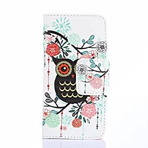 ZL Black Bird And Flowers Pattern PU Leather Full Body Case Card Slots And Stand Case for iPhone 6