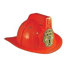 Aeromax FFR-HELMET Junior Firefighter Helmet with Siren/Light, Red