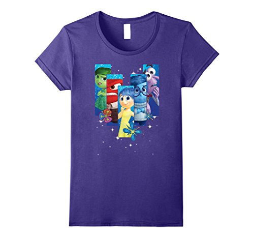 Womens Disney Inside Out Riley's Emotions Box Graphic T-Shirt XL (Inside Out T-shirt)