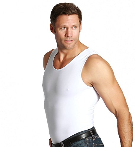 Insta Slim Muscle Tank Men's Firming Compression Under Shirt (3X-Large, White)
