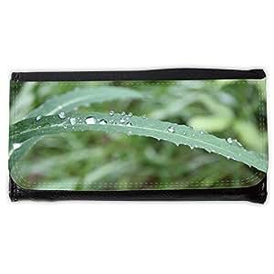 le portefeuille de grands luxe femmes avec beaucoup de compartiments // M00154569 Hoja verde agua Naturaleza Paisaje // Large Size Wallet