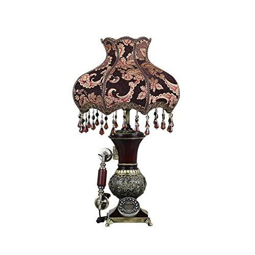 Giow Retro Telephone Bedside Table Lamp Telephone Living Room Decoration Fixed Telephone Office Landline Resin + Cloth 46 20 74cm