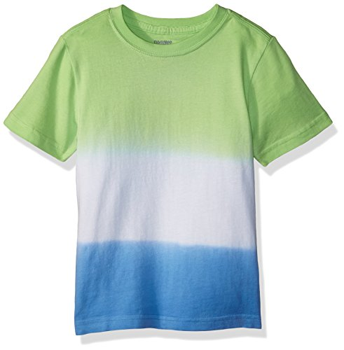 Gymboree Toddler Boys' Short Sleeve Crewneck Dip Dye Tee, Green/Blue Dip Dye, (Dip Dye Crew Tee)