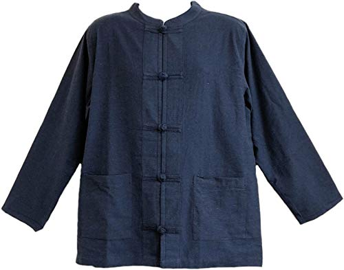 Mens Tai Chi/kungfu/chinese Style Jacket (X-Large, Blue)