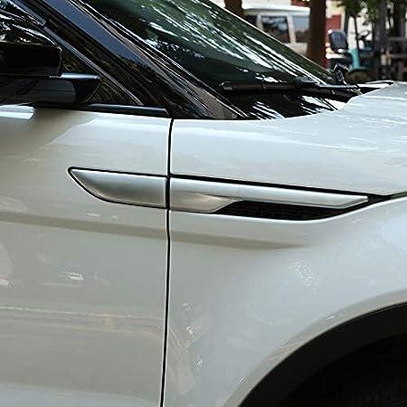 Shumo 2 St/ücke f/ür Range Rover Evoque Schwarz Seite Luft Wind Steckdosen Abdeckung Trim 2012-2017