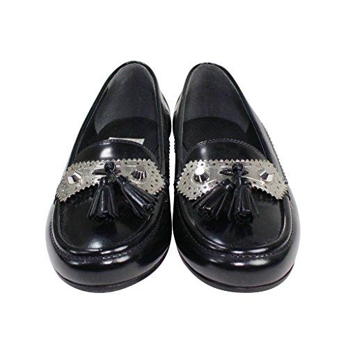 Balenciaga Womens Tassel Detail Loafers Black 38 GVnmk