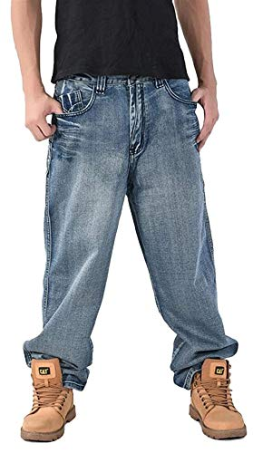 Ballo Clubwear Casual Hip Jeans Pantaloni Denim hop Da Stile Larghi Uomo In Moderna Colour Streetwear ZvxqP