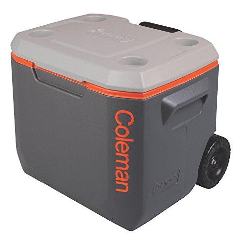 Coleman 콜맨 쿨러 박스 익스트림 50QT (47.3L) / 50 Quart Xtreme® 5 Wheeled Cooler / 3000002005 GREY x ORANGE