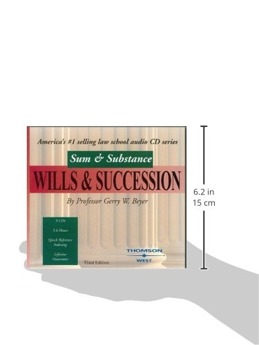 Sum & Substance Audio on Wills & Succession, Third Edition (Sum & Substance) by West Academic Publishing