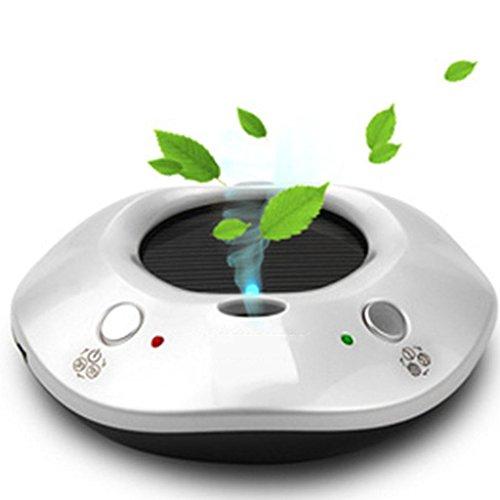GOUGOU Car solar purifier oxygen bar car dual-use humidifier car air purifier oxygen bar , white by YANQI