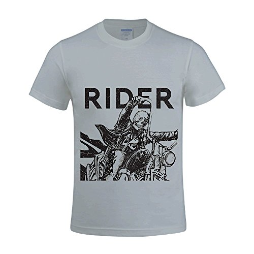 Rider Ernie D_看图王 Men Tee Round Neck Custom Grey (Party City Bay Plaza)