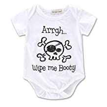 CISI Newborn Baby Boys Girls Short Sleeve Romper Bodysuit Playsuit Outfits