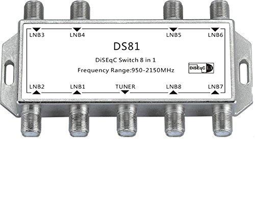 Buwico Satellite T V Receiver Switch Diseqc 8 In 1 F Type Female LNB Voltage