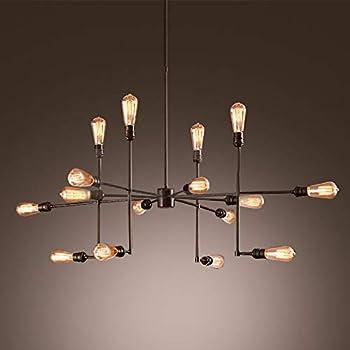 Amazon.com: Lámpara de techo industrial de araña de 12 ...