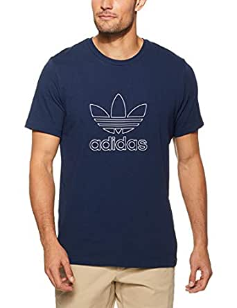adidas Men's DH5783 Outline T-Shirt, Collegiate Navy, S