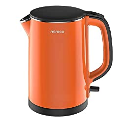 Functional Double-Wall Design BPA-Free Cool Touch Exterior, all Stainless Steel interior ensures no plastic parts touch your hot water. Easy To Clean Lightweight body that is handy to pick up, this electric kettle features a flip-back lid that opens ...