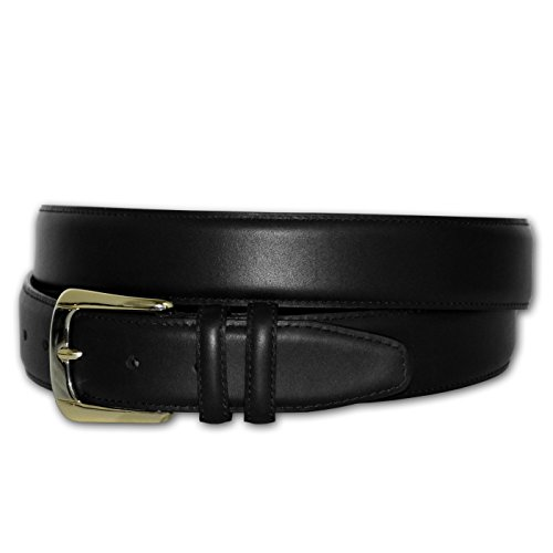 Solid Leather Big Men's Dress Belt (Black 68)